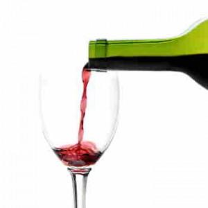 Rött vin provsmakas